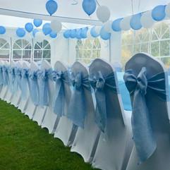 Blue Linen Bows