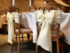 Ivory Linen Bows