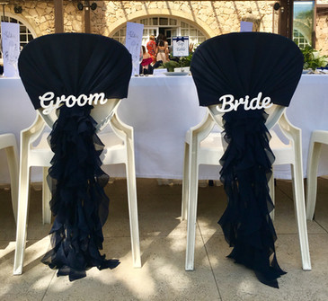 Navy Ruffes & Wooden Signs