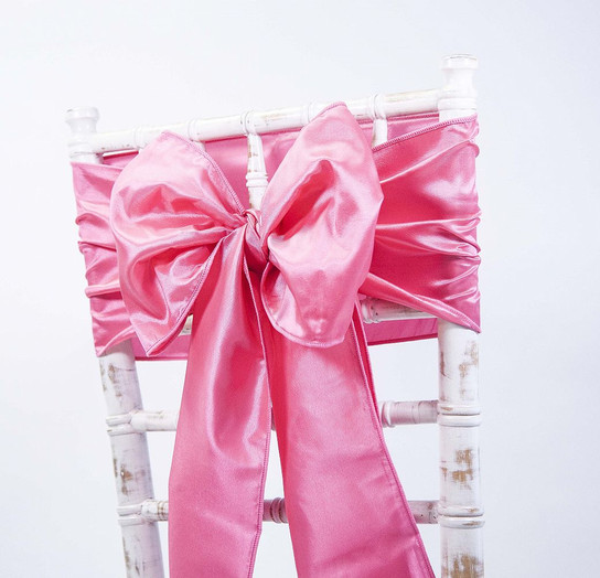 Hot Pink Taffeta Sash
