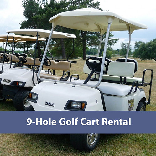 Cart Rental: 9 holes
