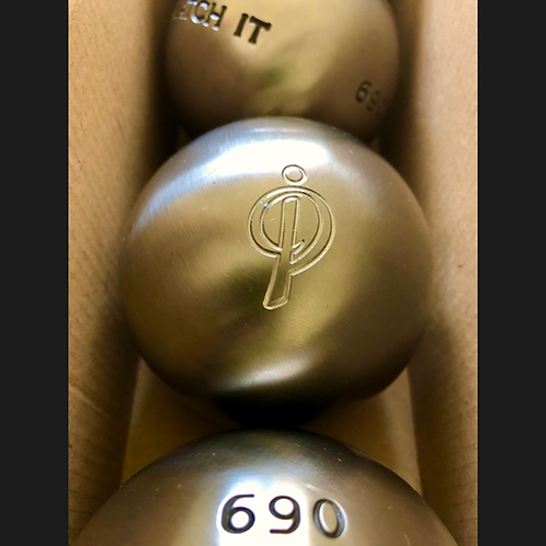 3 Boules métal gravées logotées