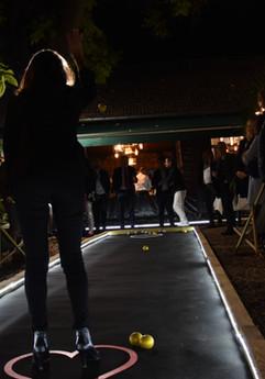 Pétanque entertainment out door opening Auberge Du Bonheur