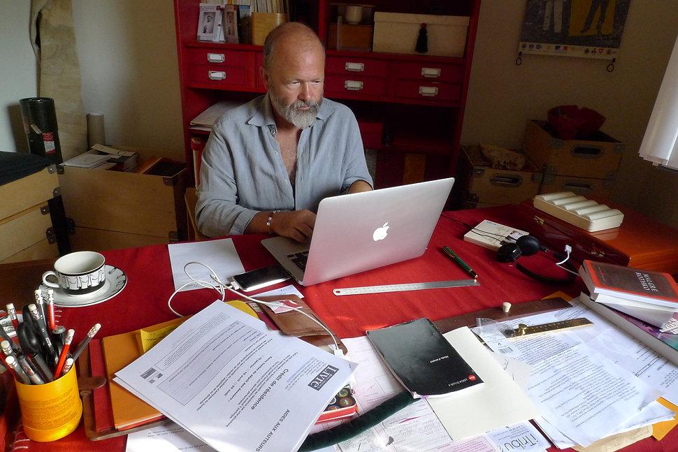 Jean-Michel Cornu de Lenclos dans son bureau de Montpellier