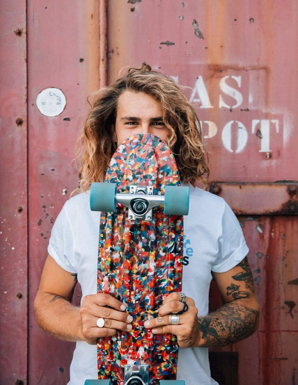 Musician Max Poolman and his Wasteboard
