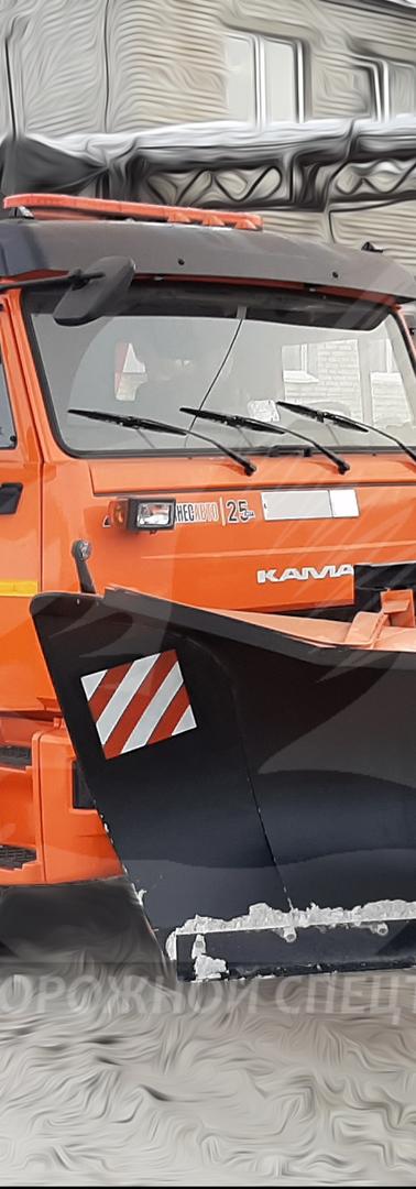 Комбинированная уборочная машина на базе самосвала КАМАЗ 65115