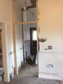 Fox Street - during - landing bathroom - Jan 18