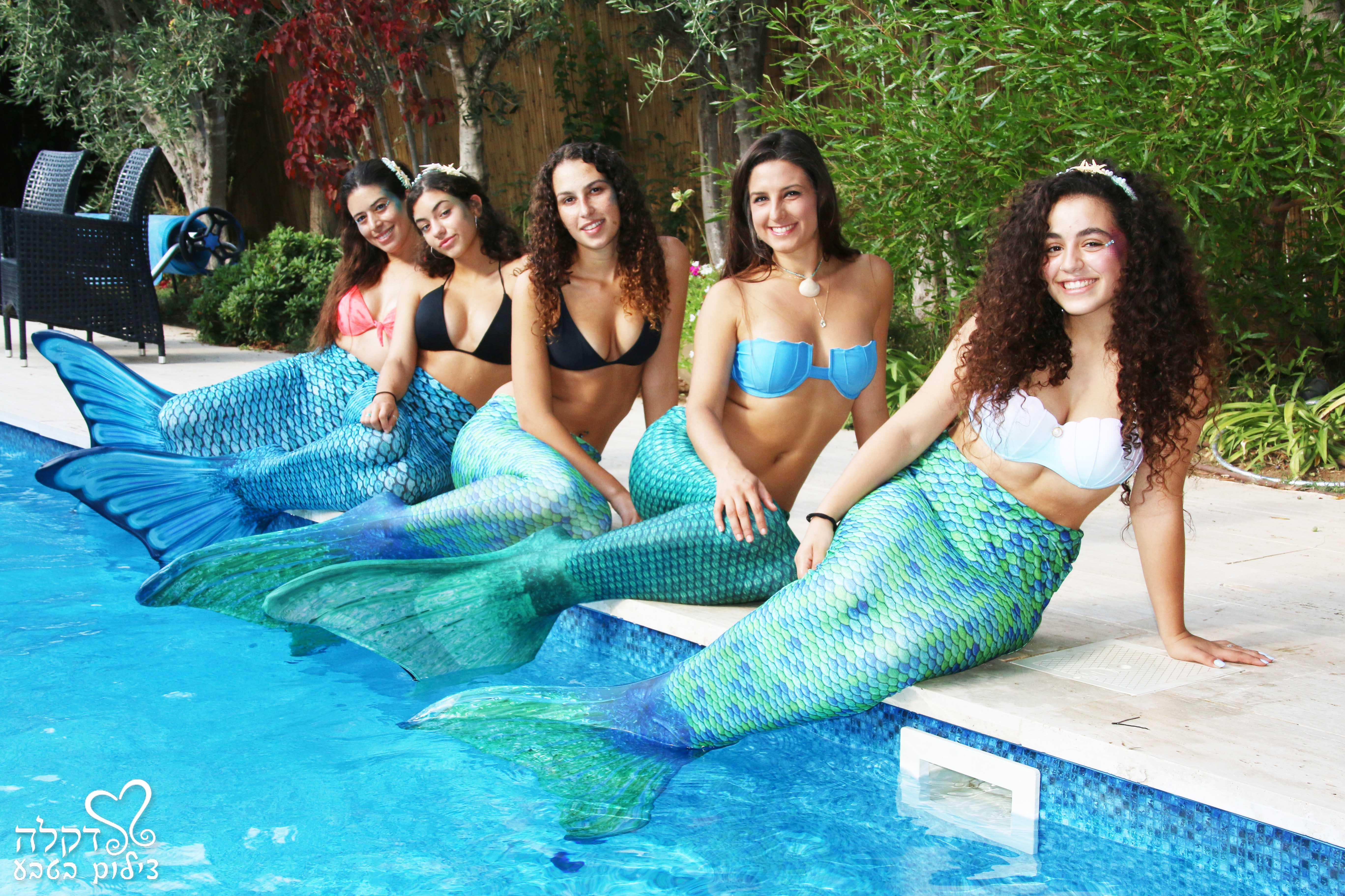 צילומי בנות ים בברכה הקסומה