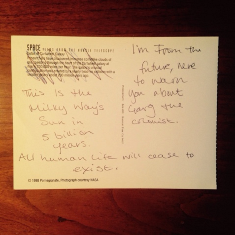 postcard from visitor