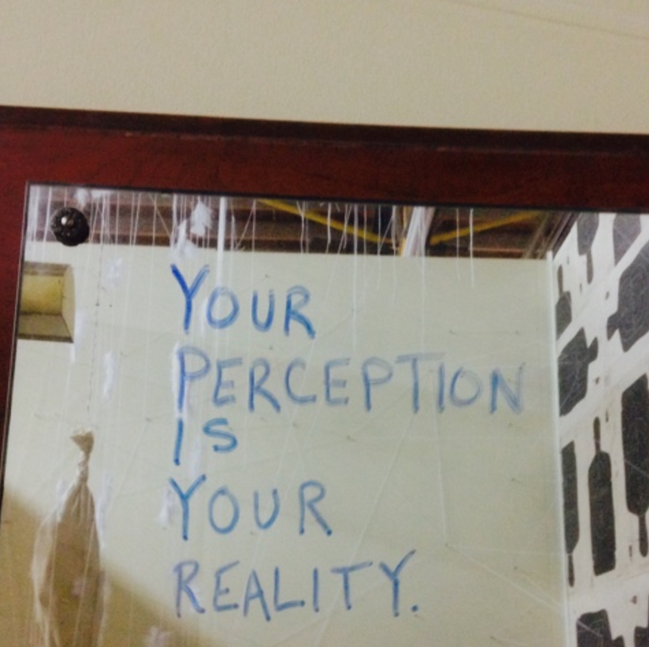 message on mirror