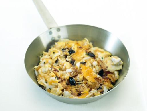 Míchaná vejce s dýňovým olejem