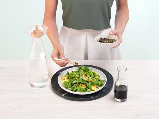 Bramborový salát s dýňovým olejem