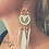 Thumbnail: Boho White Feather oorbellen