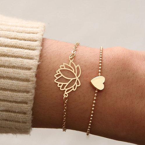 Lotus armband setje