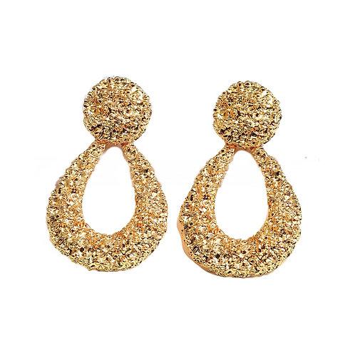 Gouden druppel oorbellen