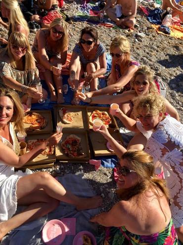 Pizza eten bij Benirras