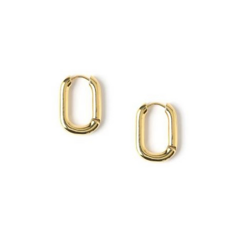 Vierkante oorbellen goud