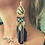 Thumbnail: Boho Black Feather oorbellen