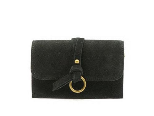 Crissy zwarte suede tas