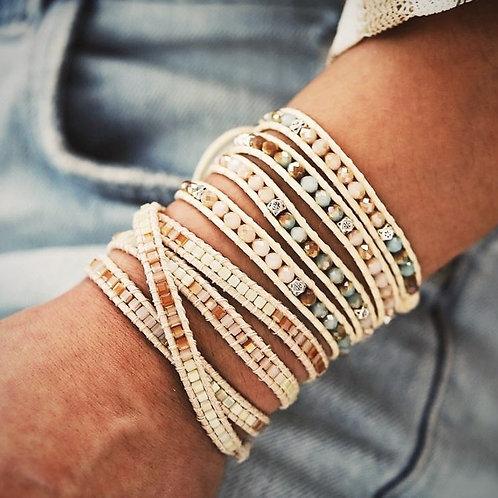 Wrap armband pastels