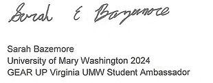 Bazemore 2020 Scholarship recipient lett
