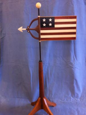 An American flag based weathervane