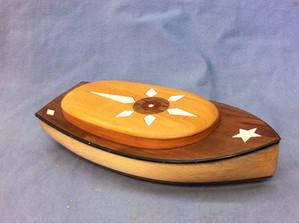 Inlaid Catboat Jewelry Box