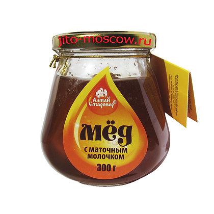 Мёд с маточным молочком 300г. Алтай Старовер