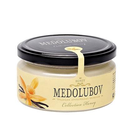 Взбитый мёд с ванилью 250 мл. Медолюбов