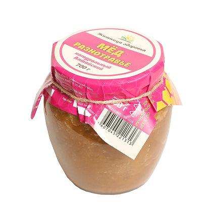 Мёд Алтайский Разнотравье 700 гр стеклянная банка