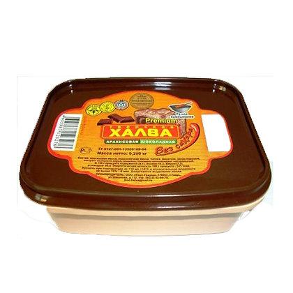 Халва арахисовая шоколадная на фруктозе 250г.