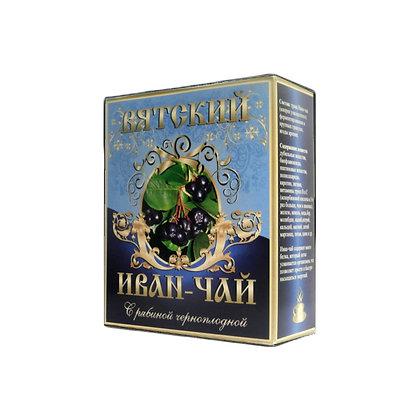 Вятский иван-чай с рябиной черноплодной рассыпной, 100 гр.