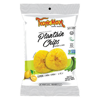 Банановые (плантайновые) чипсы с лимоном 71гр. Эквадор