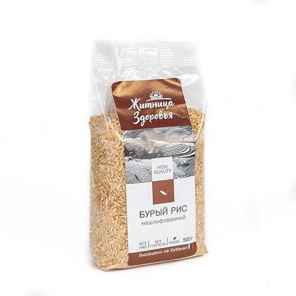 Рис бурый (нешлифованный) 0,5 кг Житница здоровья