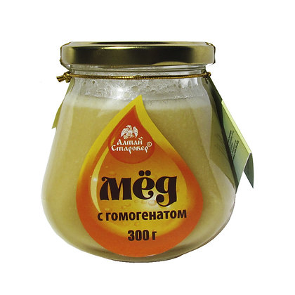 Алтайский мёд с гомогенатом Алтай Старовер