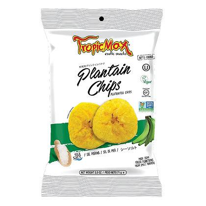 Банановые (плантайновые) чипсы с морской солью 71гр. Эквадор