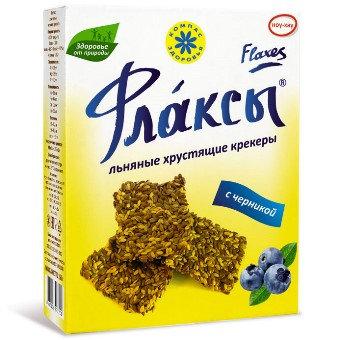 Флаксы с черникой150 гр.