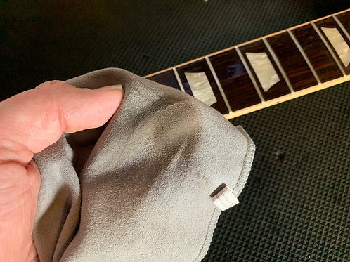 Guitar clean, restring and polish