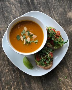 Thai Carrot Sweet Potato Soup