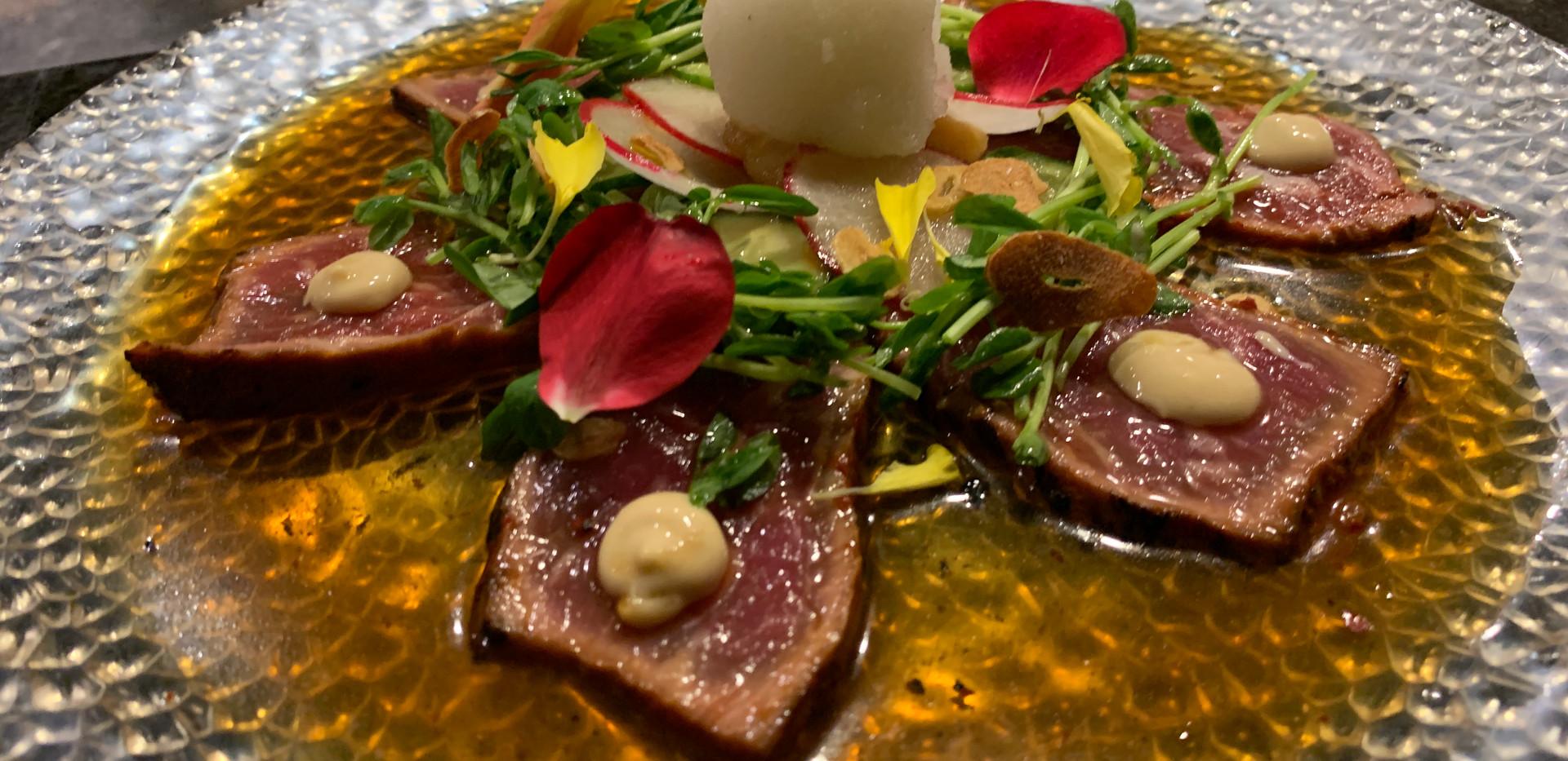 Beef Striploin Tataki (Yuk Hwae)
