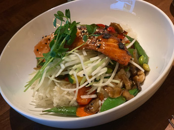 BBQ Salmon Rice Bowl