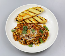 Pesto and Chicken Spicy Sausage Pasta
