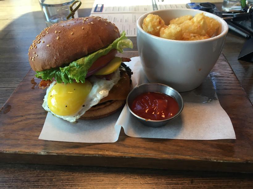 Shark Club - Brunch Burger and Tater Tots