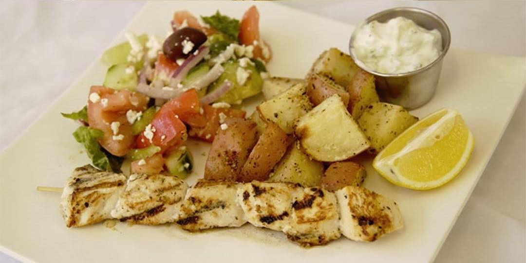 Chicken Souvlaki Meal