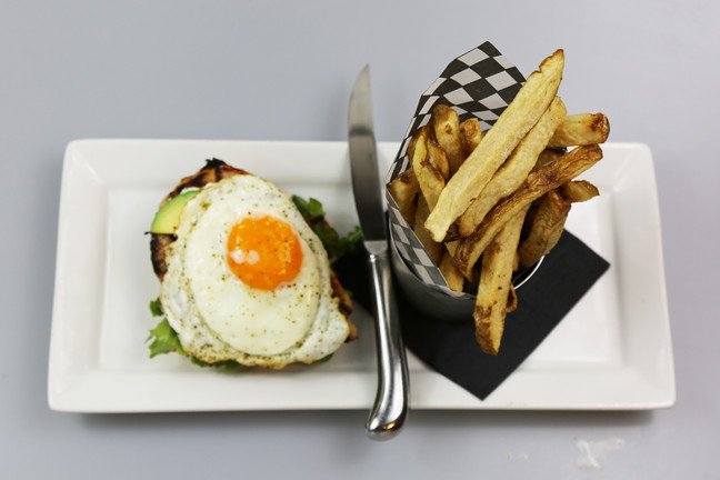 Open Faced Grilled Chicken & Avocado Sandwich
