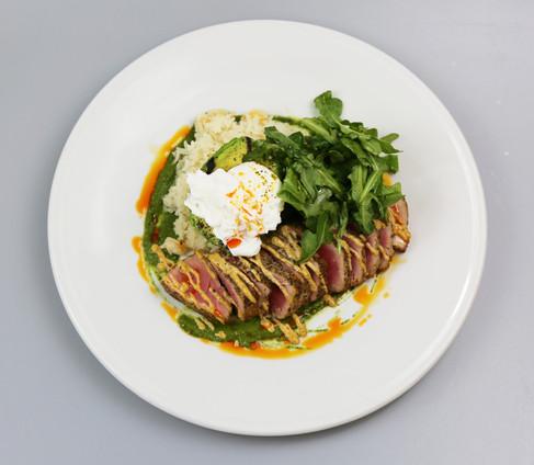 Hot Yellowfin Tuna Salad Bowl