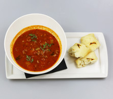 Hearty Hamburger Soup with Fry Bread
