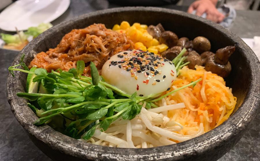 Pulled Pork Hot Stone Rice Bowl (Dolsot Bibimbap)