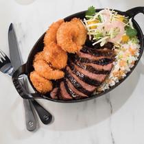 Steak + Coconut Shrimp