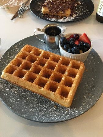 Buttermilk Fine Waffles - Classic Waffle with Fruit